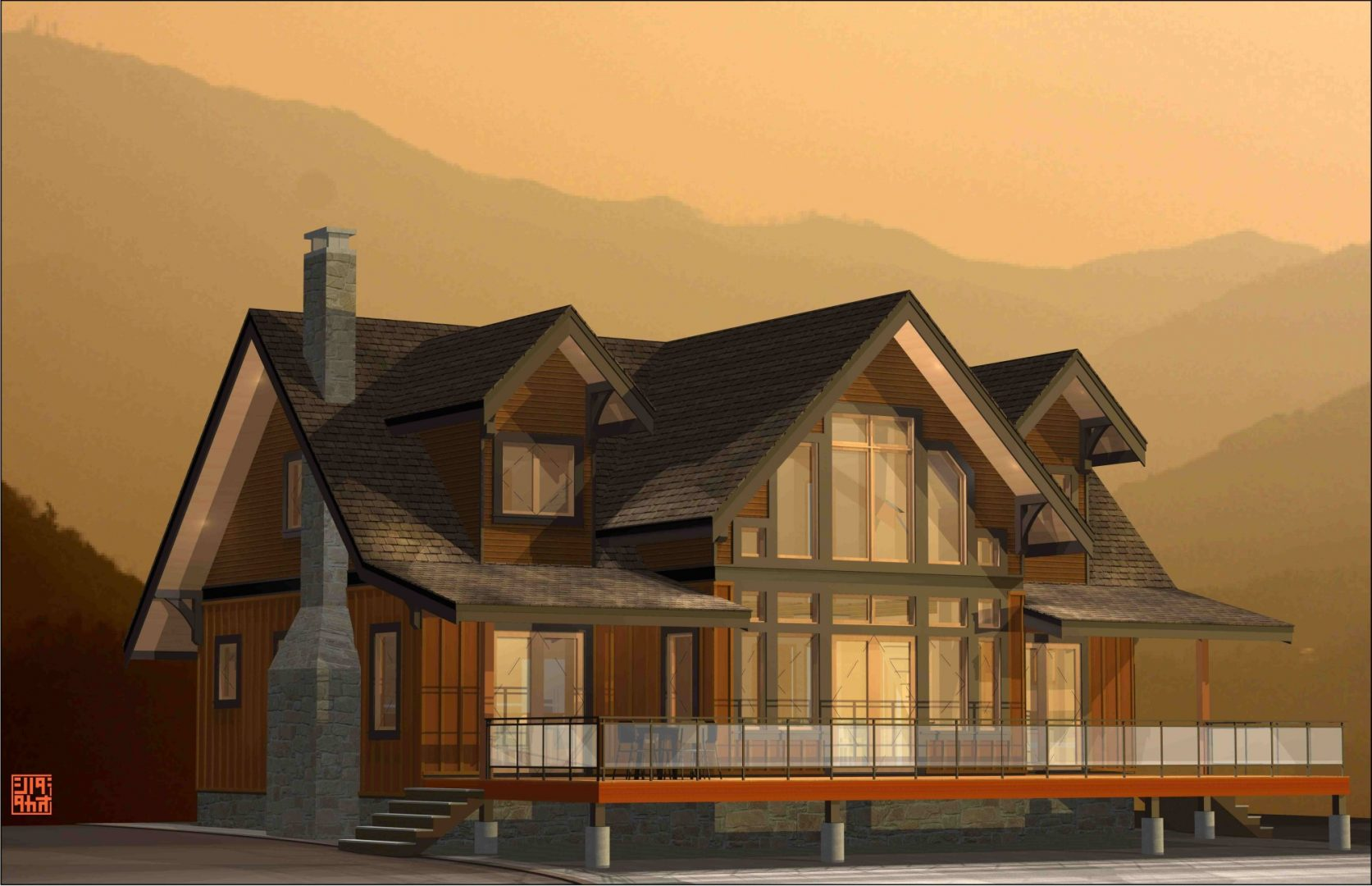Lillooet lake ajia prefab homes for Prefab lake homes
